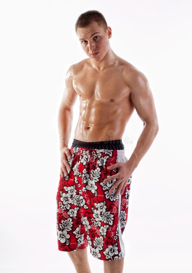 Homem muscular molhado imagem de stock royalty free