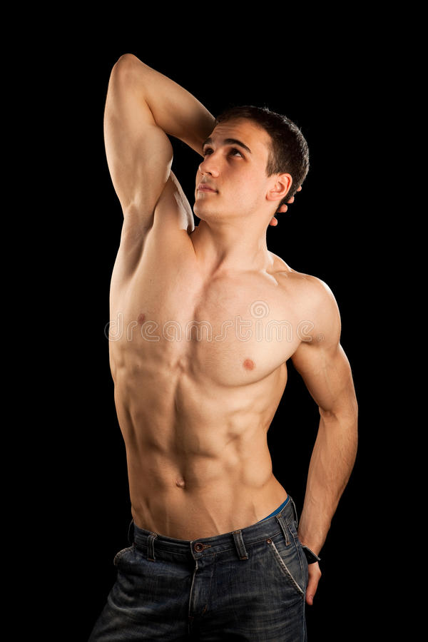 Homem muscular 'sexy' fotos de stock royalty free