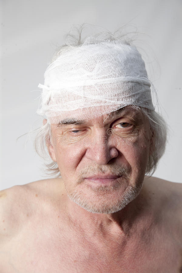 Homem mutilado bandidos imagem de stock royalty free