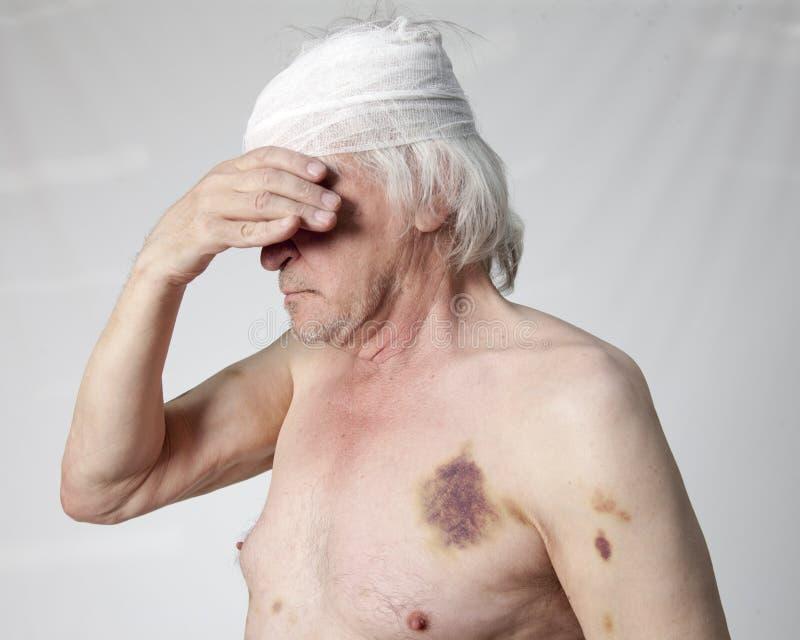 Homem mutilado bandidos imagem de stock