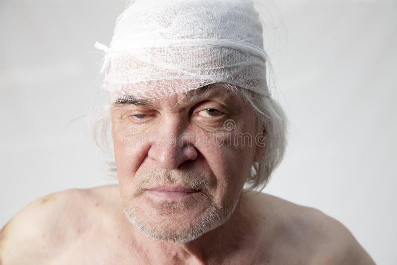 Homem mutilado bandidos fotografia de stock