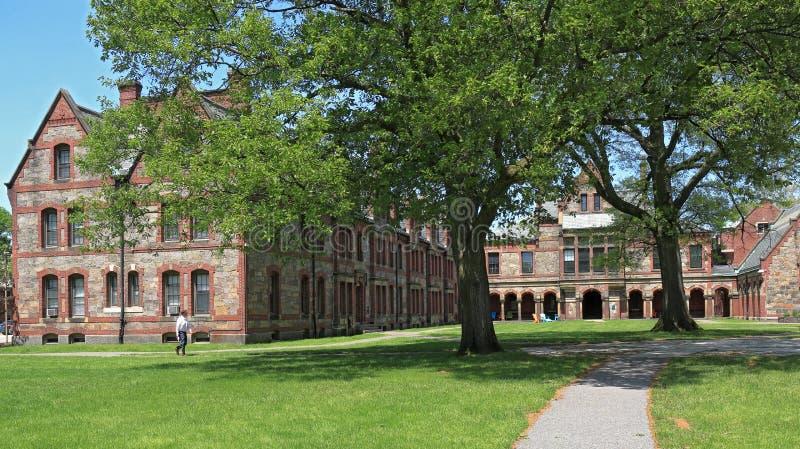 Homem não identificado que anda em Lesley University Brattle Campus em Cambridge, Massachuse fotos de stock royalty free