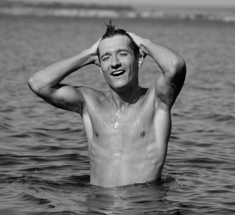Homem na água imagens de stock royalty free