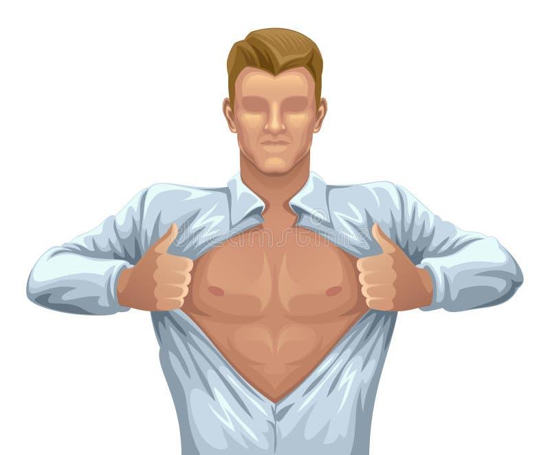Homem na camisa ilustração stock