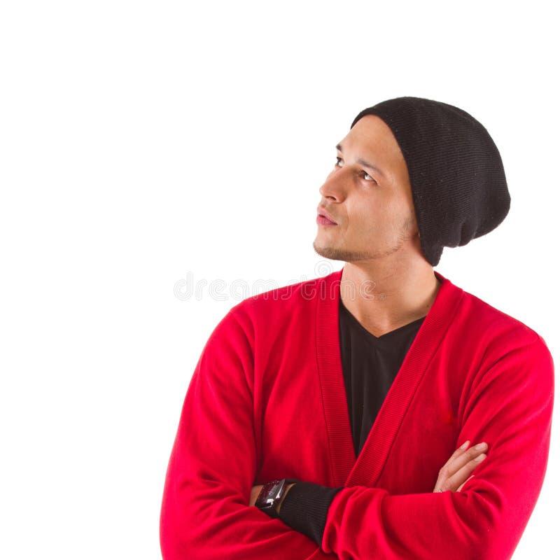 Homem na moda fresco - isolado imagens de stock
