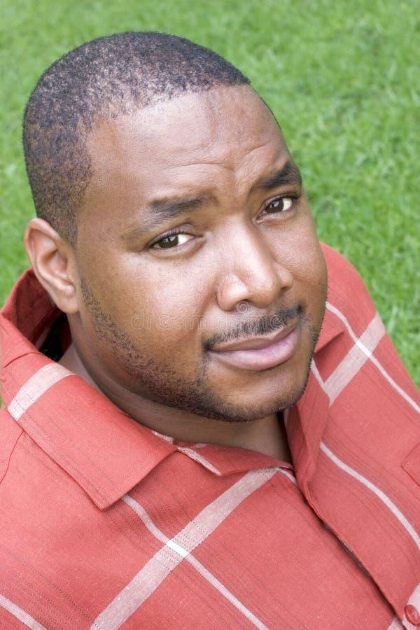 Homem negro foto de stock