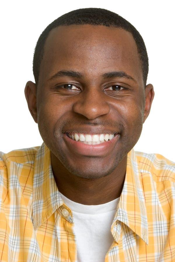 Homem negro de sorriso imagens de stock royalty free
