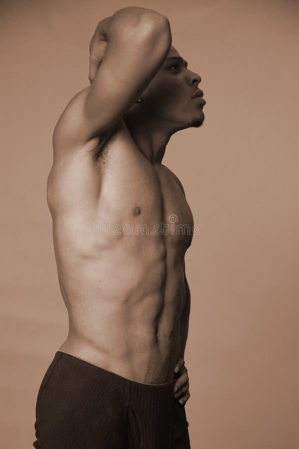 Homem Negro Forte Foto de Stock