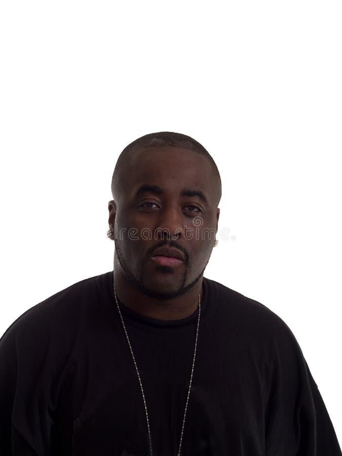 Homem negro novo na camisa imagens de stock royalty free