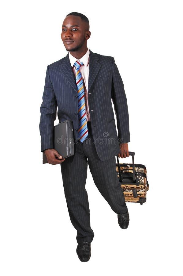 Homem negro running. fotografia de stock royalty free