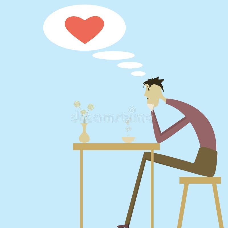 Homem no amor ilustração royalty free