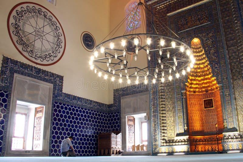 Homem na mesquita imagens de stock royalty free