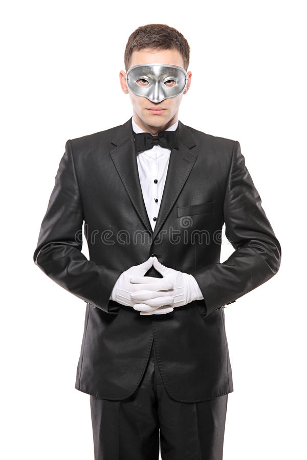 Homem no disfarce fotografia de stock