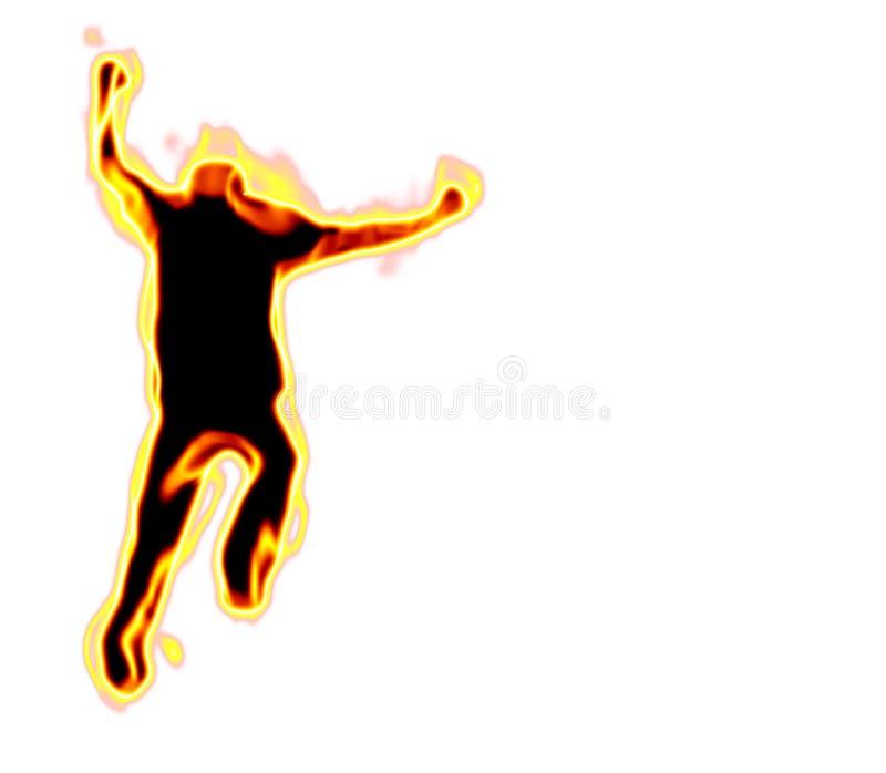 Homem no incêndio ilustração stock