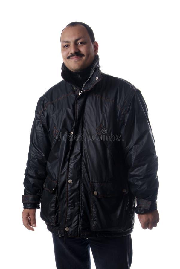 Homem no Parka imagem de stock