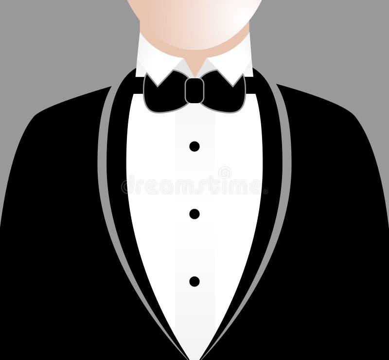 Homem no smoking ilustração do vetor