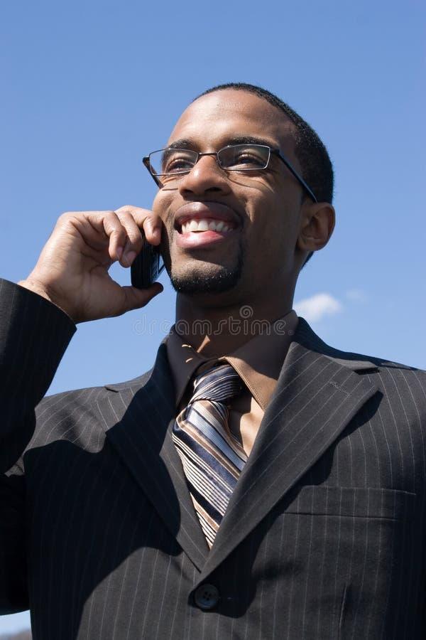 Homem no telefone fotografia de stock