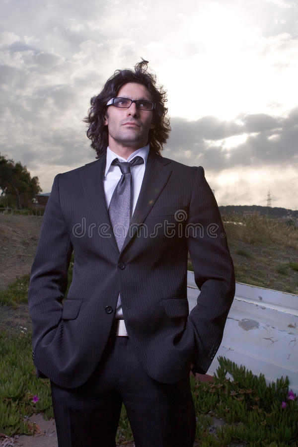 Homem no terno fotografia de stock