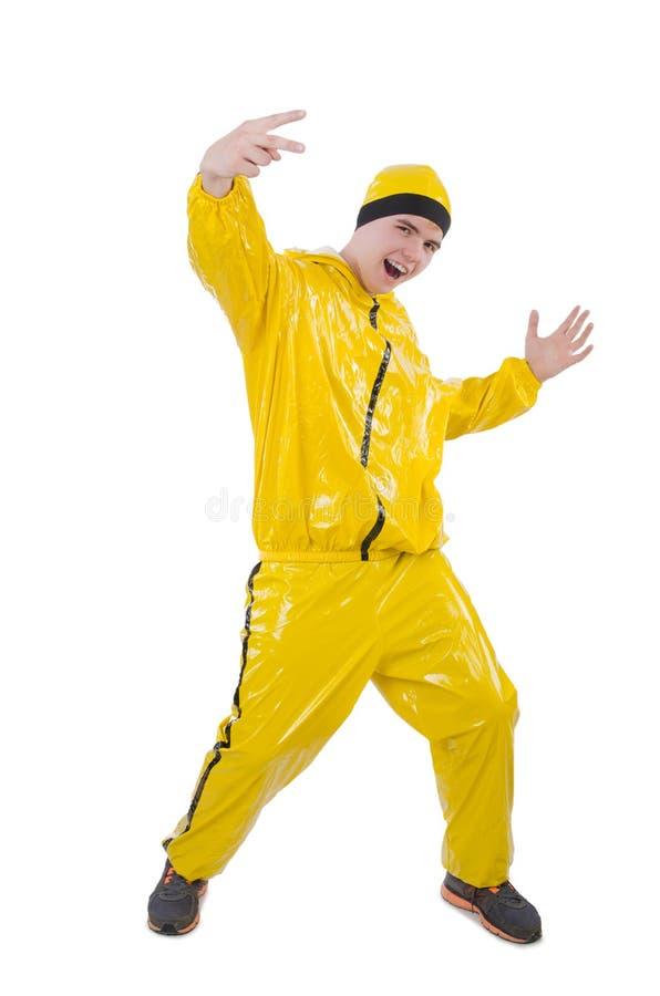 Homem no terno amarelo imagem de stock royalty free