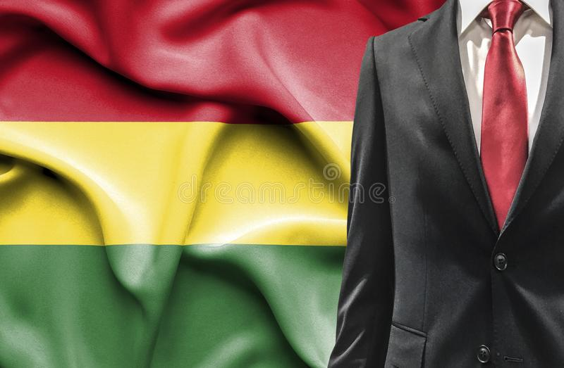 Homem no terno de Bolívia foto de stock