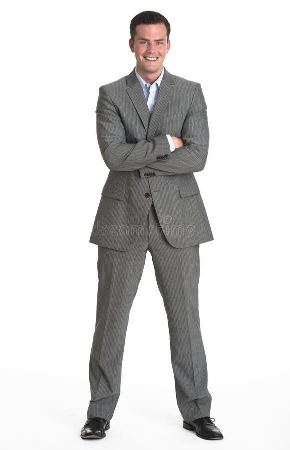 Homem no terno de negócio fotografia de stock