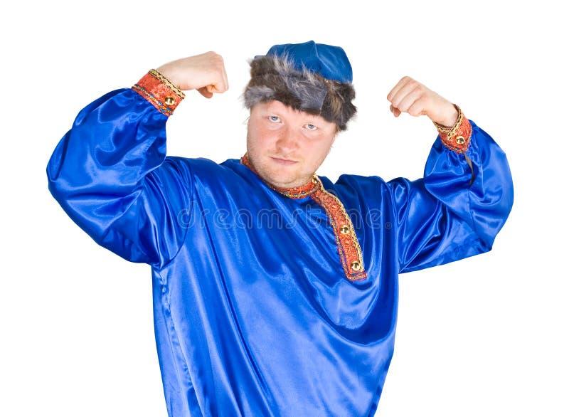Homem no terno do folclore do russo fotografia de stock royalty free