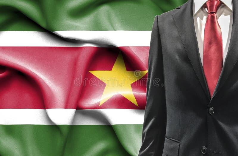 Homem no terno do Suriname fotografia de stock royalty free