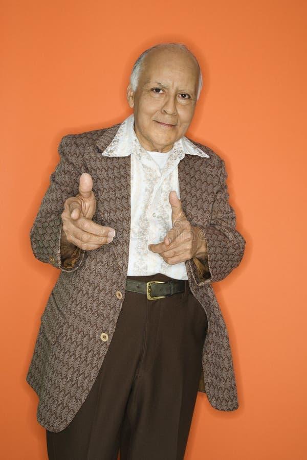 Homem no terno retro. fotografia de stock royalty free