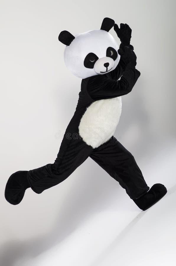 Homem no traje da panda fotos de stock royalty free
