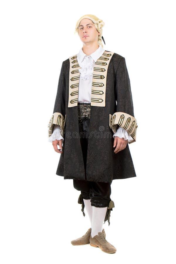 Homem no traje medieval imagens de stock royalty free