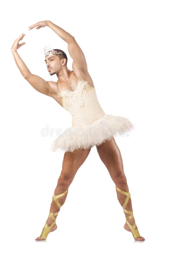 Homem no tutu do bailado fotos de stock royalty free