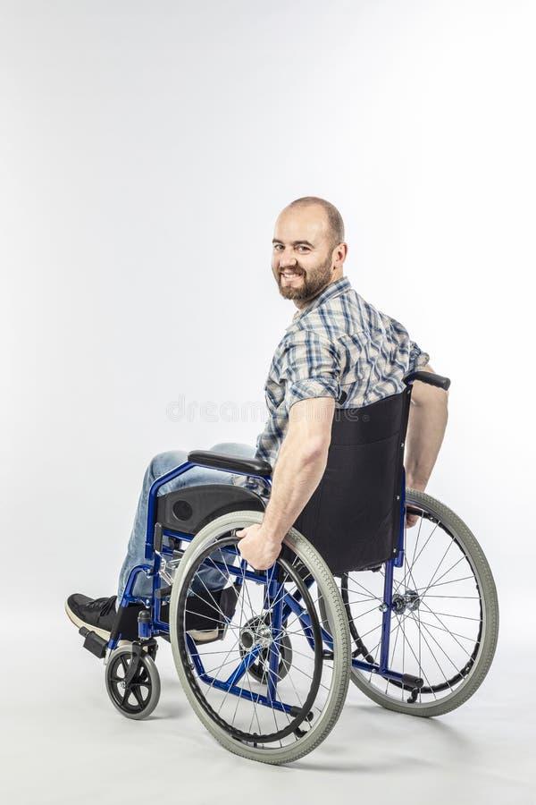 Homem no wheelschair foto de stock royalty free