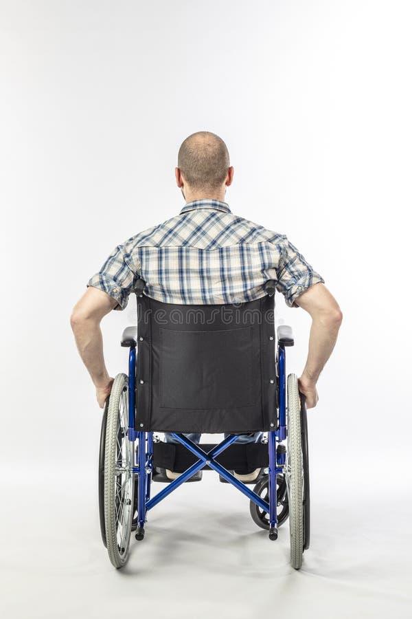Homem no wheelschair imagem de stock royalty free