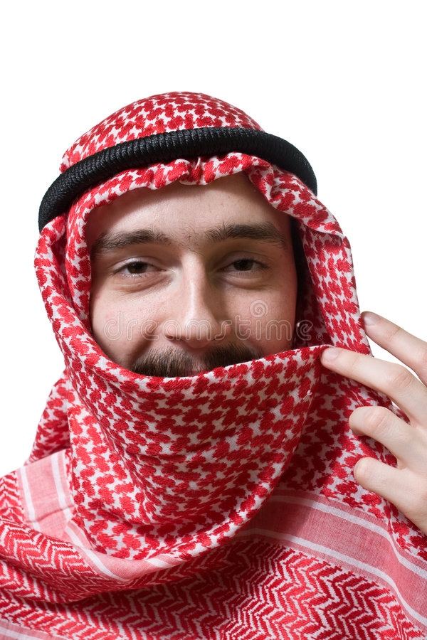 Homem novo árabe de sorriso fotografia de stock royalty free