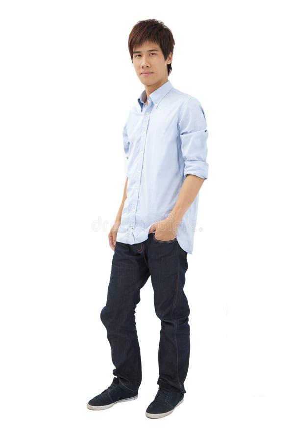 Homem novo asiático fotografia de stock