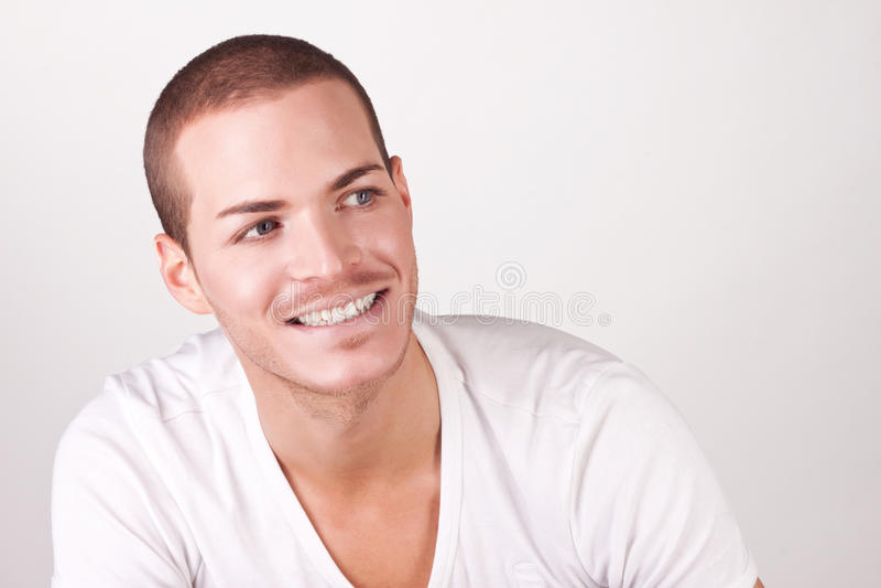 Homem novo bonito fotografia de stock royalty free