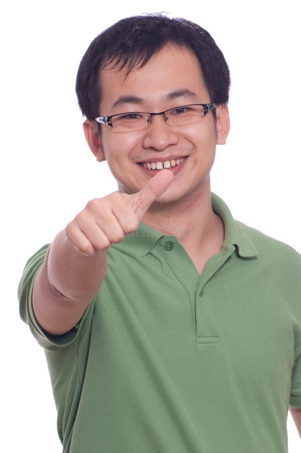 Homem novo chinês fotografia de stock