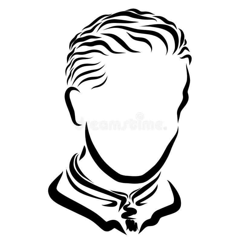 Homem novo com um corte de cabelo puro na roupa do negócio ilustração royalty free