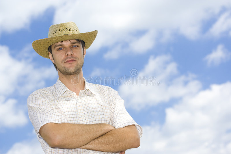Homem novo considerável foto de stock