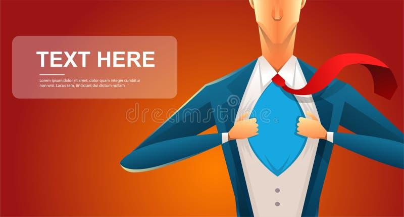 Homem novo considerável em um terno de negócio que veste um laço com uma camisa branca Ilustração do vetor no fundo branco E ilustração royalty free