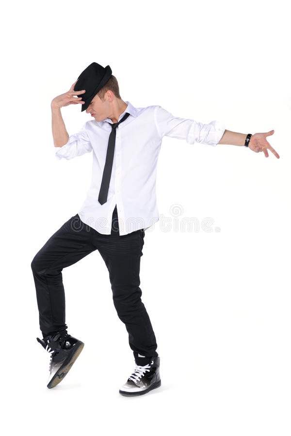 Homem novo de dança foto de stock royalty free
