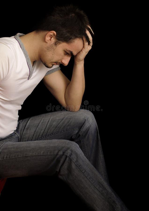 Homem novo deprimido fotos de stock