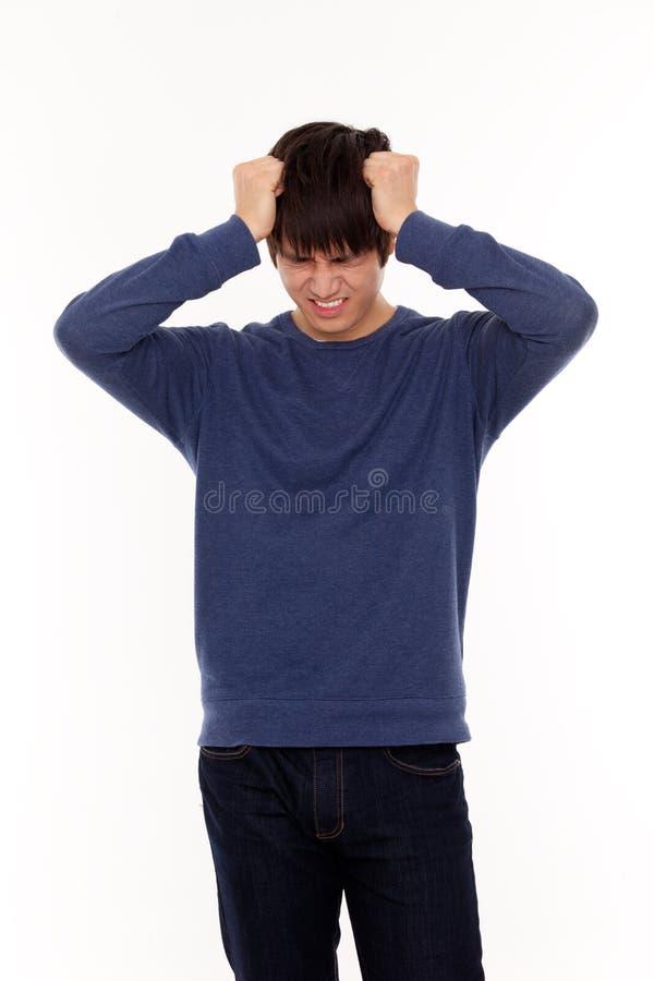 Homem novo deprimido fotografia de stock royalty free