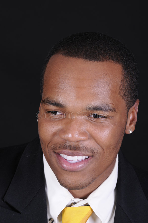 Homem novo do americano africano imagens de stock