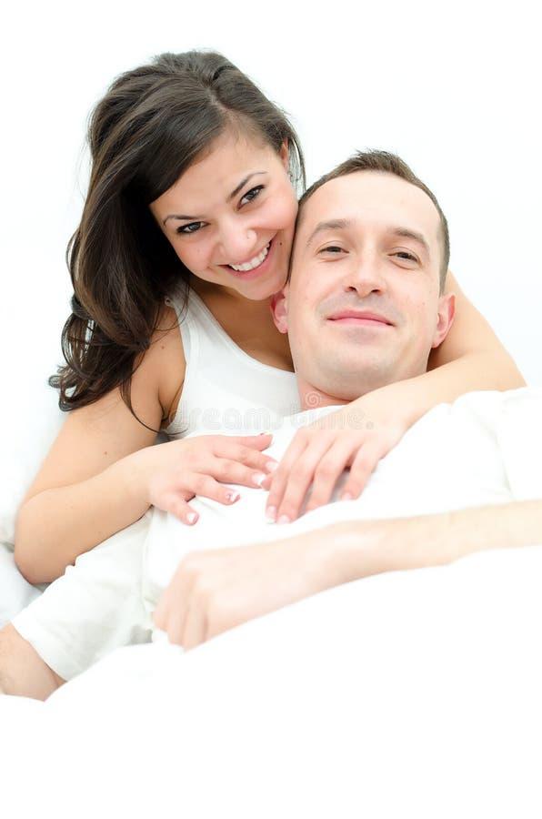 Homem novo e mulher fotos de stock