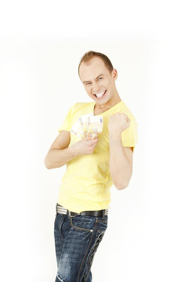 Homem novo feliz imagens de stock
