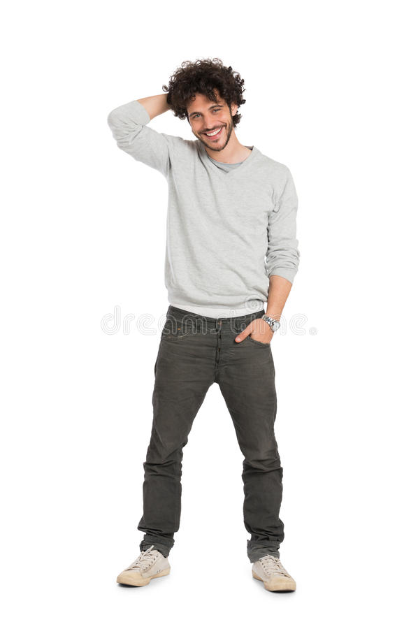 Homem novo feliz foto de stock