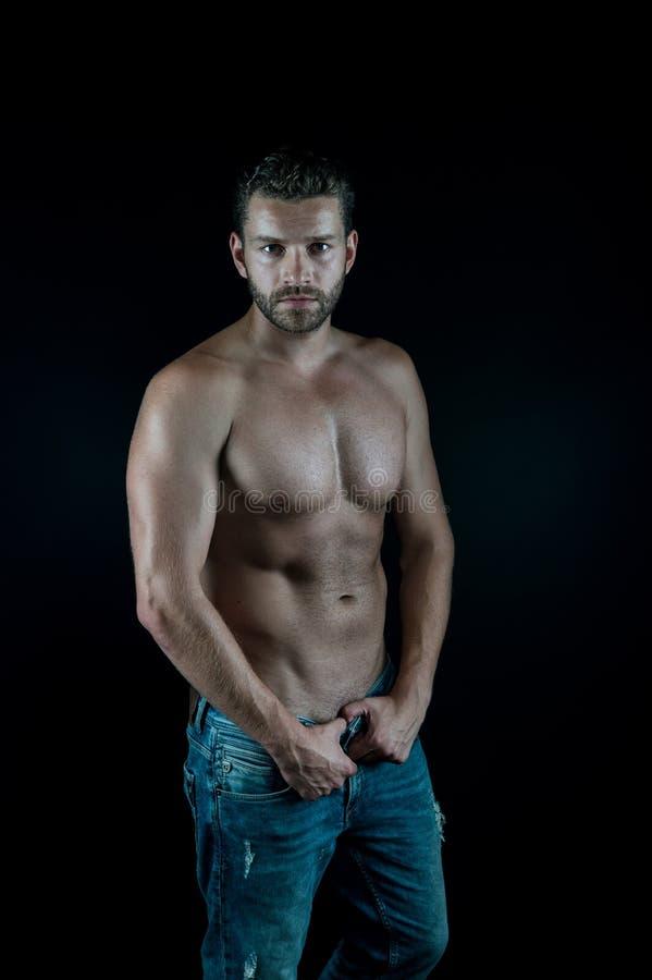 Homem novo muscular 'sexy' foto de stock