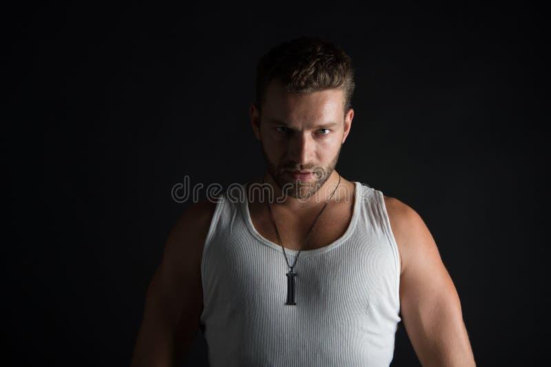 Homem novo muscular 'sexy' fotografia de stock