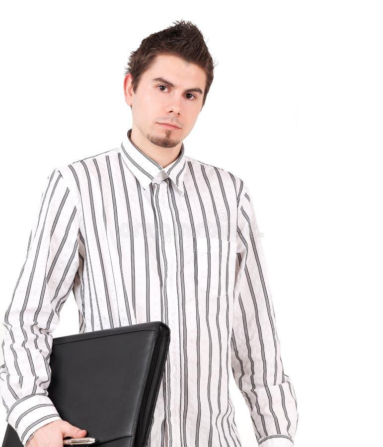 Homem novo na camisa fotos de stock